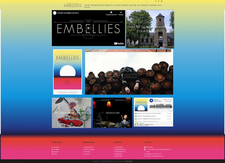 Site web – Festival les embellies